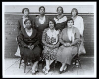 Gertrude Bartlett with other members of a First African Methodist Episcopal Church group, Los Angeles, circa 1930