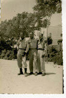 Alfred Thomas Quinn with fellow soldiers during World War II