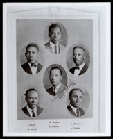 Six charter members of the Kappa Alpha Psi fraternity in the UCLA Yearbook, 1924