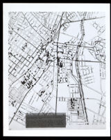 "Map with card titled: ""Distribution of Black Voters in Central Los Angeles. 1896"""