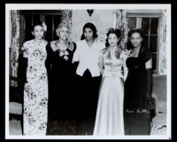 Dr. Vada Somerville, Marian Anderson and Martha Jefferson Louis, Los Angeles, 1940s