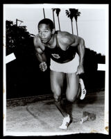 O. J. Simpson running track and field at USC, Los Angeles, circa 1967