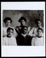 Reverend J. Gordon McPherson and the Shiloh Baptist Church choir, Sacramento, 1880-1910