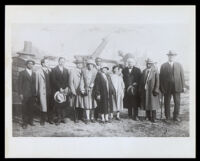 Groundbreaking ceremony for the Hotel Somerville (later the Dunbar Hotel), Los Angeles, circa 1928