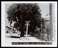 Corner of Shorey and Cedar Streets, Oakland  (copy photo made 1930-1989)