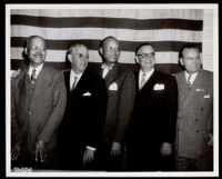 Dr. John A. Somerville, John Anson Ford, Robert Z. Hardon, Thomas Newton and Wallace Braden, Los Angeles, circa 1948