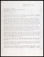 Letter to Arthur M. Robinson from: Eugene Lasartemay, 1976