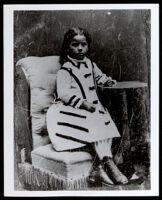 Anna Dugged Owens as a child, 1880-1890