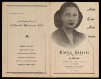 Recital program for a concert given by pianist Gloria Roberts in Los Angeles, 1946