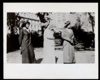 Three African American women in dress suits, 1900-1920
