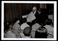 "William Grant Still lectures to school children on ""The Little song that wanted to be Symphony,"" 1970-1978"