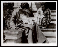 Mother and child, possibly Vivian Osborne Marsh with her son Leon Frederick, Jr., Oakland, circa 1922