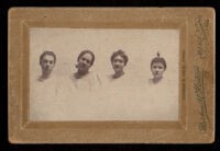 Ruth Bork (?), Belle Johnson, Helena Johnson and Ione Murrels, Sacramento, circa 1895