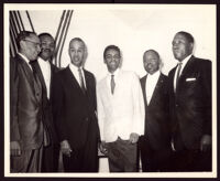 Johnny Mathis, Roy Wilkins, and four other men, Los Angeles, 1961