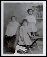Three eldest children of Mr. and Mrs. James Henry Coleman, Redding, circa 1887