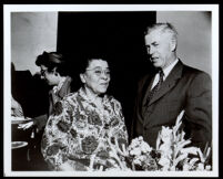 Charlotta Bass with Henry Wallace Los Angeles (?), 1948 or 1952