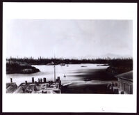 """""""Victoria Harbor"""" a painting by Grafton Tyler Brown, undated photograph"""