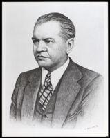 Portrait drawing of Louis M. Blodgett, between 1928-1947