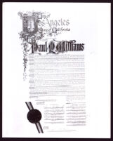 Los Angeles City Council resolution honoring Paul R. Williams, 1965