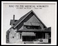 Rho Psi Phi Medical Sorority house, Los Angeles, circa 1924
