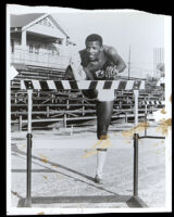 Paul Kerry (?), track and field athlete at USC, Los Angeles, circa 1965