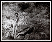 African American miner during the California gold rush at Auburn Ravine, Auburn, 1852