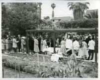 Reception for Mr. and Mrs. R. C. Somerville at the home of Drs. Vada and John Somerville, Los Angeles, 1950s (?)