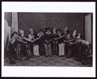 Children at a dance recital or class, 1920-1950