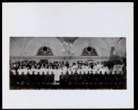 Celebration held by the Harriet Tubman Auxiliary of the Red Cross in honor of overseas boys at Patriotic Hall, Los Angeles, 1919