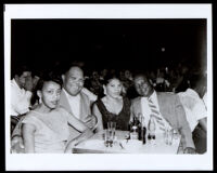 Two couples at a club, 1940-1960