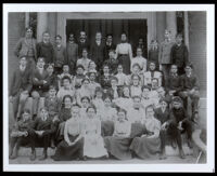 Charlotta Bass with her high school class, Providence, circa 1900