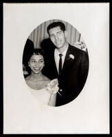 Wedding portrait of Loren Miller, Jr. and Anne M. Risher Miller (probably), Los Angeles, 1957