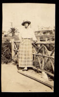 Mrs. Mitchell in Palisades Park, Santa Monica, 1900-1920