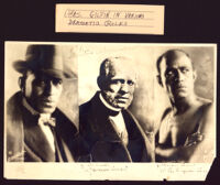 Three photographs of Charles Gilpin in various dramatic roles,1915-1930