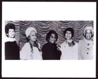 Portraits taken at the Founders Luncheon of the Delta Sigma Theta Sorority to celebrate the 57th anniversary of its founding, Los Angeles, 1970