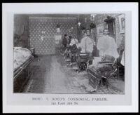 Barber shop of Robert James Boyd, Los Angeles, 1902-1910