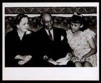 Frederick Roberts, Pearl Hinds Roberts, and their daughter, Patricia, 1940s