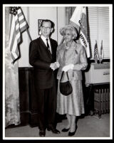 Supervisor Kenneth Hahn with Dr. Vada Somerville, Los Angeles, 1959