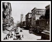 Owen's block (right), purchased by Biddy Mason in 1866, Broadway side, Los Angeles, 1907-1908