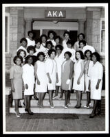 Alpha Kappa Alpha women at the sorority House, Los Angeles, 1964
