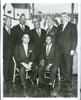 Congressman Charles C. Diggs with six former presidents of the Los Angeles Chapter of the NAACP, Los Angeles, 1950s-1960s