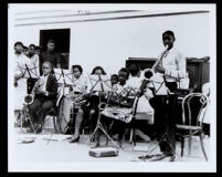 African American youth in a band, Los Angeles, undated