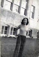 "Young Dorothy ""Dottie"" Quinn in front of Venice HS"