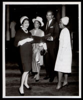 Juanita Ellsworth Miller and others, probably an NAACP event, Los Angeles, 1964