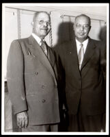 Dr. John A. Somerville with an unidentified man, 1950s
