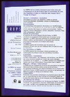 Femmes & VIH 1997-2007. Où en sommes-nous 10 ans après? [inscribed]