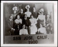 Group portrait of prominent citizens, San Jose, circa 1900