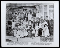 """Mother Goose"" party given by the Owens family at the Albany St. house, Los Angeles, 1906"