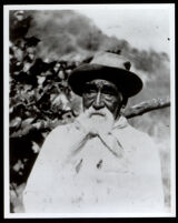Manuel Moreno at the age of 80, grandson of Los Angeles founder Jose Cesario Moreno, Los Angeles, 1905
