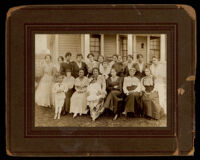 Party given by Emily Brown Childress (later Portwig) at her home, Los Angeles (?), 1918